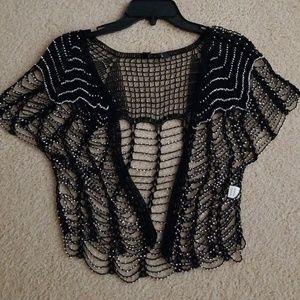 Jackets & Blazers - Beaded shawl sparkly